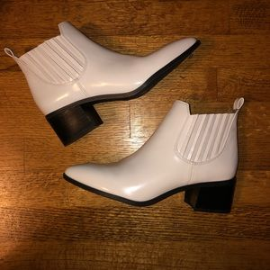 Franco Sarto White Booties